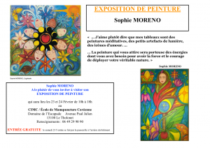 Exposition de Sophie Moreno, artiste peintre